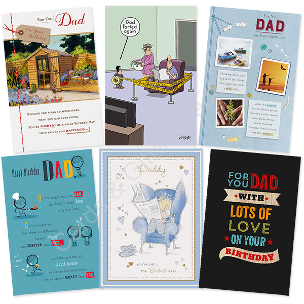 Dad Daddy Stepdad Father Me To You Happy Birthday Card Greeting