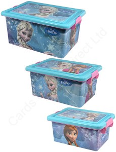 Disney Frozen Plastic Storage Box Container with Lid ...
