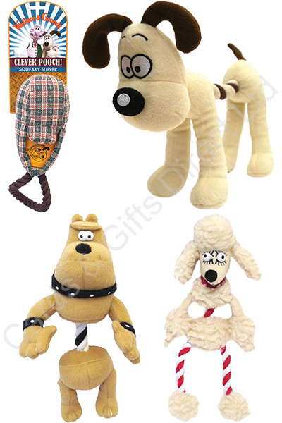 Wallace And Gromit Toys : Wallace gromit plush dog toys rope tug toy squeaker
