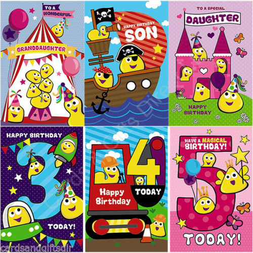 Cbeebies Happy Birthday Greeting Card Age 3rd 4th 5th Daughter Son
